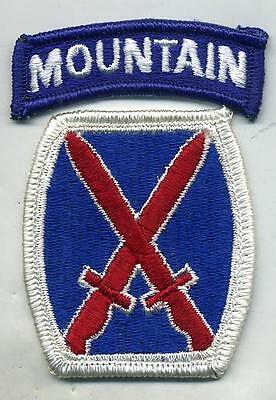 US Army 10th Mountain Division Color Patch With Tab
