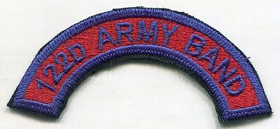US Army 122nd Army Band COLOR Patch Tab