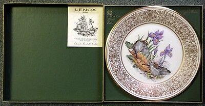 1979 Lenox China Plate *golden-Crowned Kinglets Edward Marshall Boehm New In Box