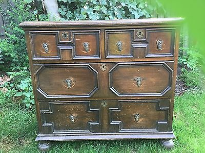 Antique Oak Chest Of Drawers For Restoration