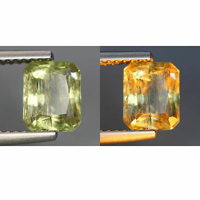 1.53 Cts_World Class Rarest Gemmy!!!_100 % Natural Color Change Diaspore_Turkey