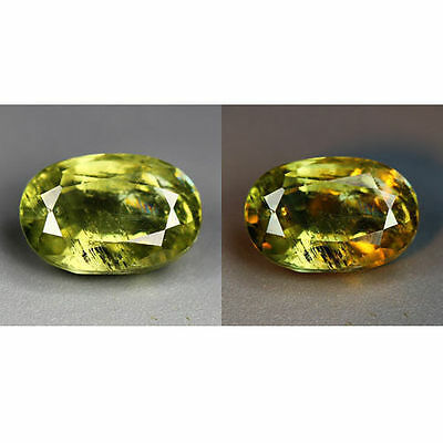1.73 Cts_World Class Rarest Gemmy!!!_100 % Natural Color Change Diaspore_Turkey
