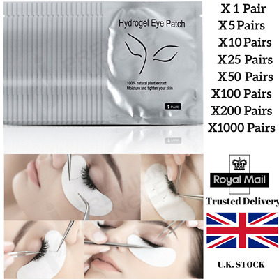 1-1000 Pairs Eyelash Lash Extension Under Eye Gel Pads Lint Free