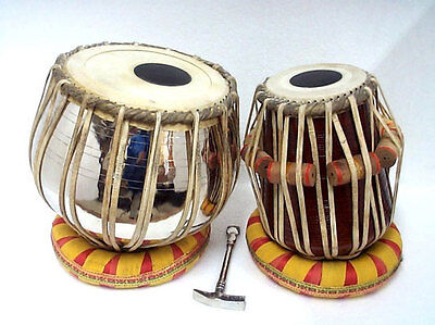 Handmade Brass Tabla Drums Set~Brass Bayan Shesham Wood Dayan Tabla Drum  Set B1