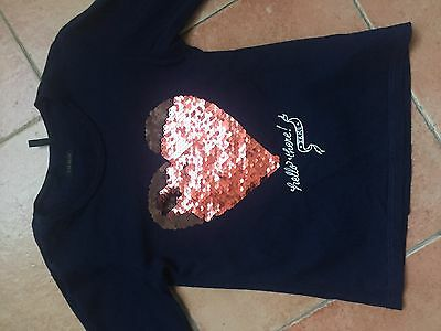 Tshirt Fille Manches Longues Marine Ikks 5 Ans