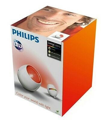 White Philips LivingColours Micro LED Table Mood Lamp Light colors changing new