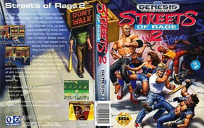 Street Of Rage 2 Sega Genesis NTSC USA Replacement Box Art Case Insert Cover