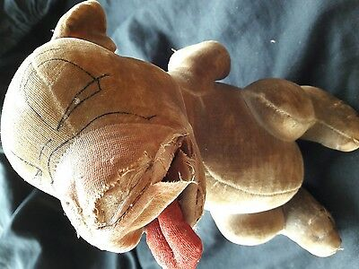 chad valley? bonzo dog 1930s rare soft toy in good condition