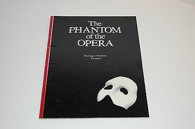 The Phantom of the Opera 1989 Canadian Premier Theatre guide