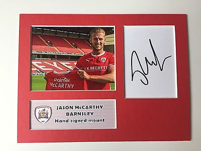 SIGNED BARNSLEY FC JASON McCARTHY MOUNT NEW SIGNING Southampton Walsall