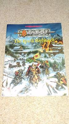 Birthright Rjurik Highlands AD&D Dungeons Dragons RPG book module TSR D&D