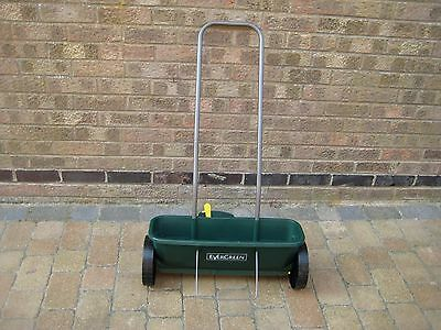 evergreen spreader for grass seed and fertilizer