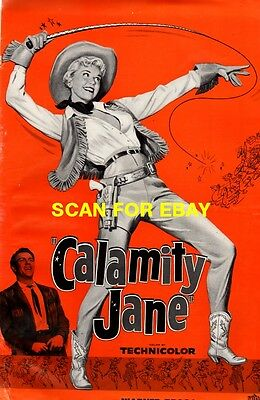 CALAMITY JANE pressbook, Doris Day, Howard Keel, Allyn McLerie, Philip Carey