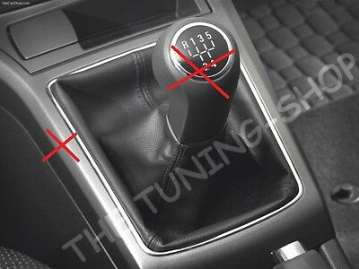 For Opel Vauxhall Astra H MK5 04-14 Gear Stick Gaiter Black Genuine Leather