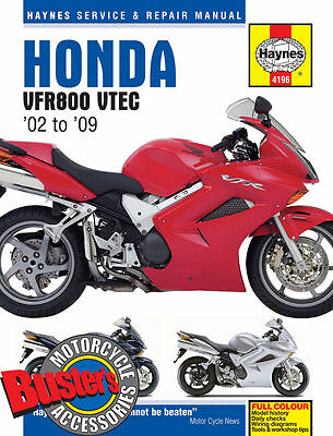 Genuine Haynes Workshop Manual 4196 Honda VFR800 V-Tec 2002-2009