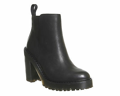 Womens Dr. Martens Black  Leather Pull On Ankle Boots UK Size 6 * Ex Display