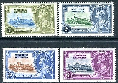 NORTHERN RHODESIA-1935 Silver Jubilee Set Sg 18-21 LIGHTLY MOUNTED MINT V16950