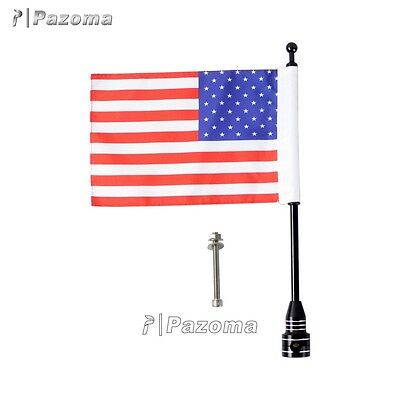 Motorcycle Bike American USA Flag Pole Mount Fits Harley Davidson Street Glide