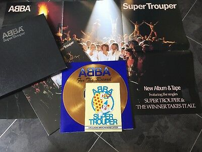 Abba Super Trouper Box Set With Lp Book And Huge Poster All Near Mint