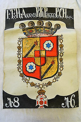 Antique Aquarell  Wappen Heraldik Adel aristocracy coat of arms Maria Theresia