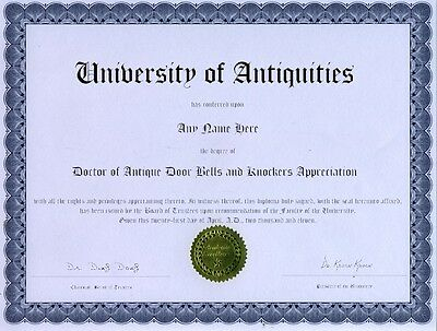 Doctor of Sheep Appreciation Novelty Diploma Gag Gift Joke