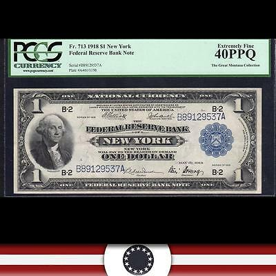 1918 $1 Federal Reserve Bank Note FRBN Green Eagle PCGS 40 PPQ Fr 713 B89129537A