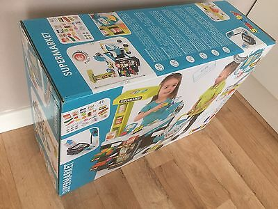 NEW Smoby Supermarket Checkout Centre with Trolley Blue Super market 350206