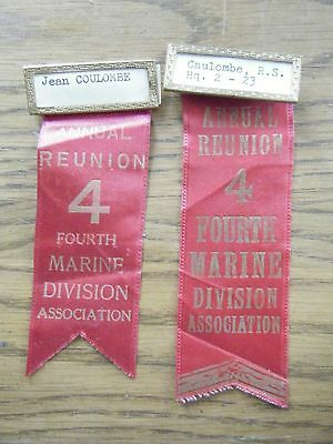 4th US Marine Division Reunion Association ribbons