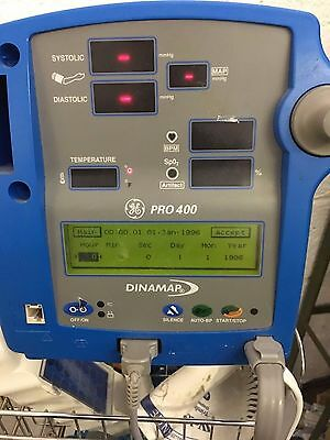 GE Dinamap Pro 400 - Vital Signs Monitor with Printer & Accessories Used nurse