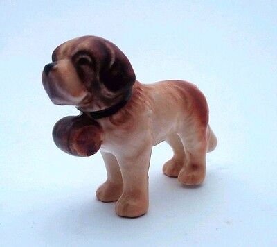 Goebel Miniature St. Bernard with Barrel circa 1972-1979 - Made in Germany