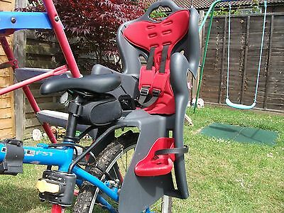 Childs Rear Bicycle / Bike Seat With Instructions and Spare Bolts
