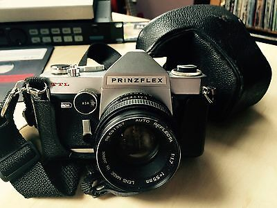 Chinon Prinzflex TTL Camera with 1:1.7 55mm Lens and Case (1966)