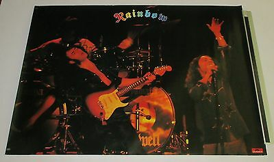 RAINBOW Japan PROMO ONLY poster RICHIE BLACKMORE Ronnie Dio POLYDOR more listed!