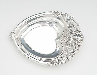 GRANDE BAROQUE  heart tray in sterling silver by wallace
