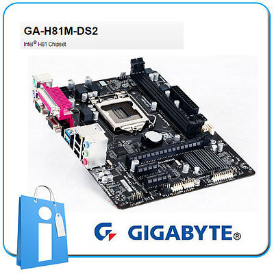 Placa base mATX H81 GIGABYTE GA-H81M-DS2 Socket 1150 con Defecto en LAN