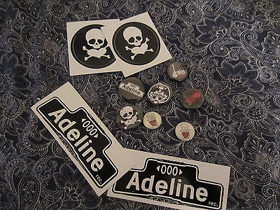 LOT of Adeline stickers buttons Billie Joe Armstrong Green Day