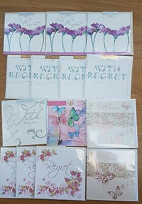 14 Wedding REGRET cards INDIVIDUALLY WRAPPED Job lot Wholesale NOEL TATT Ling
