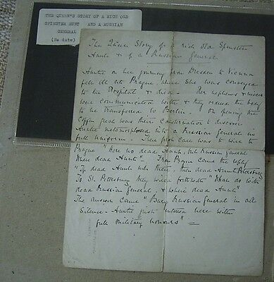 Document Of The Queen's Story Of A High Old Spinster Aunt And A Russian General