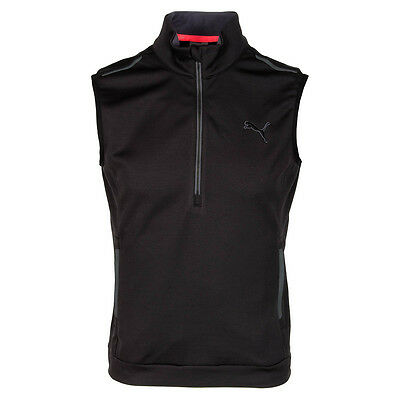 Puma PWRWARM 1/4 Zip Knit Vest in Black- Size M- New with Tags