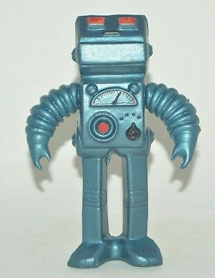 VINTAGE VERY RARE TOY MEXICAN FIGURE BOOTLEG SPACE ROBOT BLUE ASTRONAUTS 7 inche