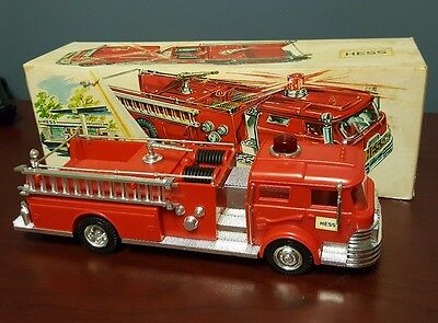 1970 Hess Fire Truck w/Original Box very nice. SPECIAL 3 DAY ONLY AUCTION