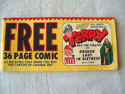 1953 Canada Dry #3 Terry and the Pirates comic  Premium / promotional
