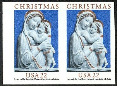 2165a - 22c Christmas Madonna - Horiz Pr - Imperforate  NH