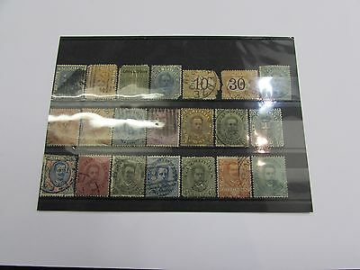 Selection of early Italy stamps