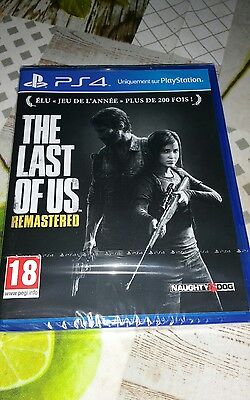 jeu ps4 the last of us remastered scellé