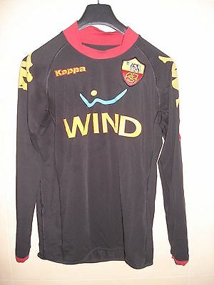 Camiseta Football Shirt Maglia As Roma Kappa Italia L/s Patch Toppa Coppa 222 Gk