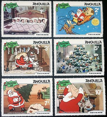 "ANGUILLA  Christmas 1981 DISNEY ""The Night before Christmas""  MINT set of 6  MNH"