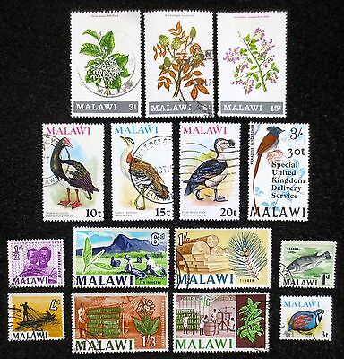 Malawi - Selection of Used Stamps - CV £10.00+