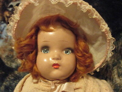 Vintage   21 Inch Composion Doll  With Original Clothing
