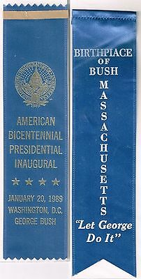 2 Different GEORGE H. W. BUSH Ribbons